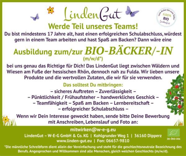 Ausbildung Bio Baecker LindenGut