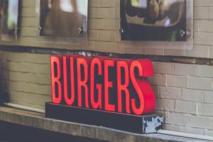 Burgers Schild