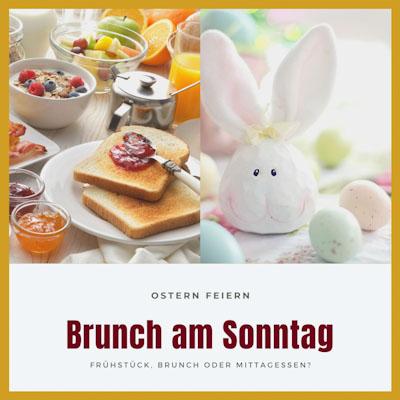 Brunch am Sonntag an Ostern